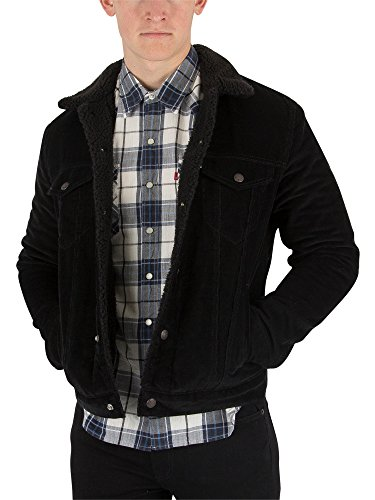 Levi's Men's Type 3 Sherpa Trucker Jacket, Black, X-Large