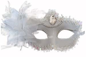 Veneciano partido máscara máscara de Halloween Costume Masquerade Night Out (color blanco)