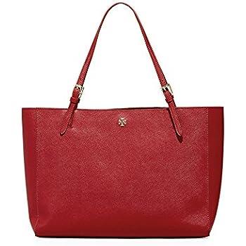 03123503536b0 Tory Burch Emerson Large Buckle Tote Saffiano Leather Handbag 49125 (Kir  Royale)