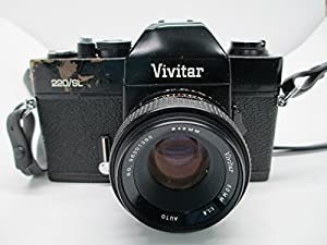 Vivitar 220/SL 35mm SLR Film Camera M42 Mount w/ 50MM 1:1.8 auto 49MM lens