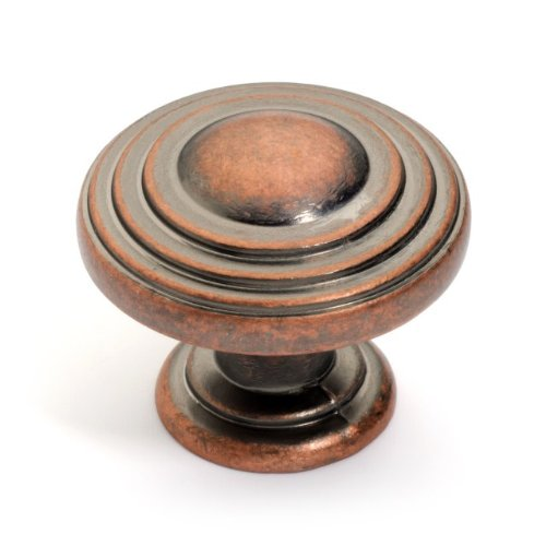 Dynasty Hardware K-3118-AC-25PK Newport Cabinet Hardware Knob, Antique Copper, (Newport Cabinet Hardware Knob)