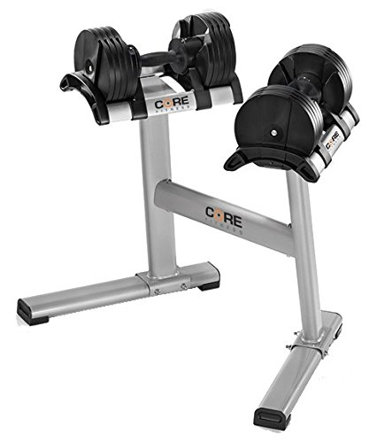 Adjustable Dumbbells & Stand By Core Fitness - Affordable Dumbbells - Space Saver - Weights - Dumbbells For Your Home - by Core Fitness®
