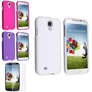 Bloutina Everydaysource Compatible with Samsung Galaxy S4 i9500 White + Purple + Pink 3pc Hard Case + Clear LCD Protector...