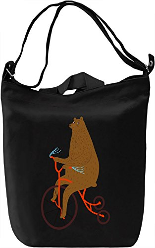 Circus bear Borsa Giornaliera Canvas Canvas Day Bag| 100% Premium Cotton Canvas| DTG Printing|