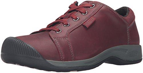 Keen - Zapatillas de cuero para mujer rojo Cider, color rojo, talla 6.5