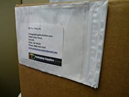 Clear Re-closable Packing List Enclosed Envelope Plain Face Back Load 2.0 Mil Thick - 4\