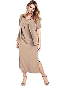 Roamans Women's Plus Size Jacket Dress Set