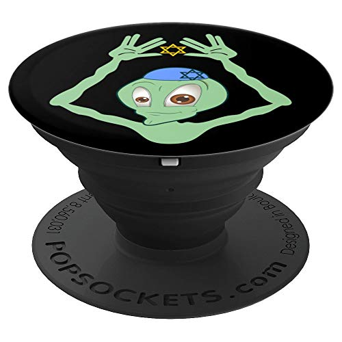 Funny Hanukkah Alien Jewish Yamaka Chanukah - PopSockets Grip and Stand for Phones and Tablets
