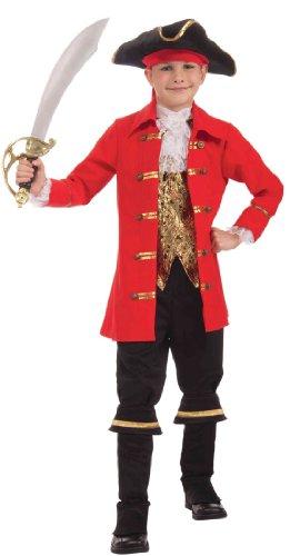 Forum Novelties Deluxe Designer Collection Captain Cutlass Costume, Child (Deluxe Pirate Child Costumes)