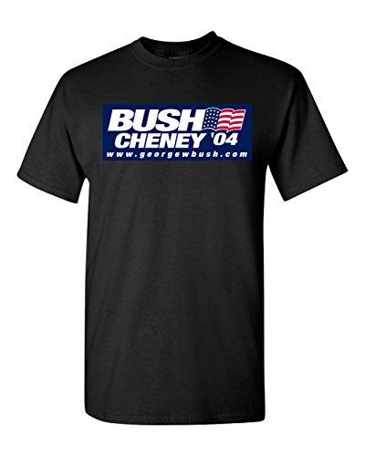 Bush Cheney 04 Republican George W 2004 Black T-Shirt (Black, Small)