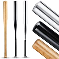 Heldenwerk Kije baseballowe z drewna lub aluminium, idealne do samoobrony o długości 80 cm, solidne wykonanie