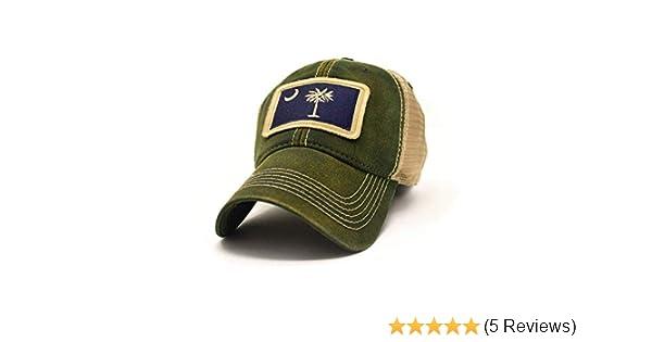 0c229a5525789 Amazon.com   South Carolina Flag Patch Trucker Hat