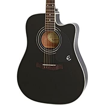 Epiphone limited edition aj 220sce acoustic electric guitar ebony