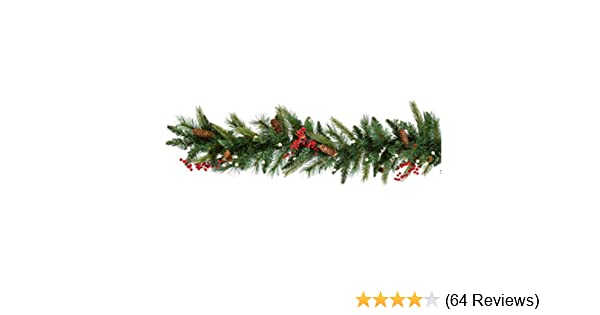 Amazon cordless pre lit cone berry christmas garland home