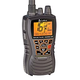 The Amazing Quality Cobra MR HH450 Dual VHF/GMRS Floating Handheld Radio - Grey by Generic