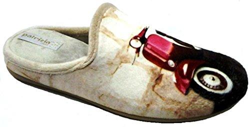 PATRIZIA AZZI - Zapatillas de estar por casa de tela para mujer beige beige 37