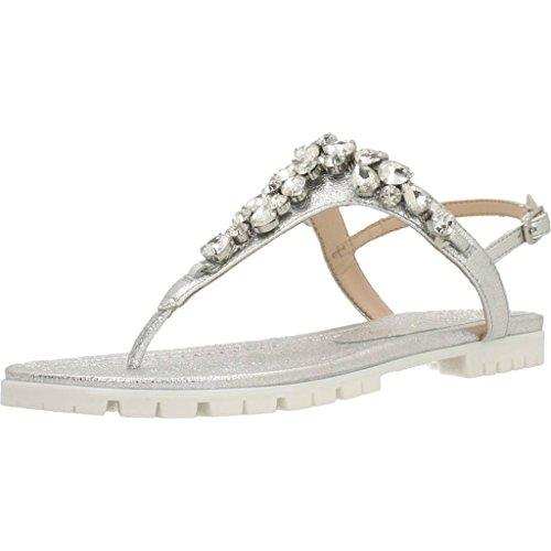 para sandalias mujer Unisa modelo mujer Chess marca y plata y zapatillas Silver Silver SE color para zapatillas Sandalias IqERxw78E