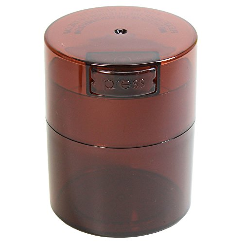 Tightvac - 1/2 oz to 3 ounce Airtight Multi-Use Vacuum Seal Portable Storage Container for Dry Goods, Food, and Herbs - Coffee Tint