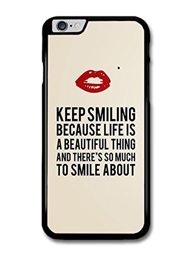 Marilyn Keep Smiling Signature and Kiss Quote coque pour iPhone 6 Plus 6S Plus