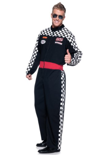 Mens Plus Race Car Driver Costume -