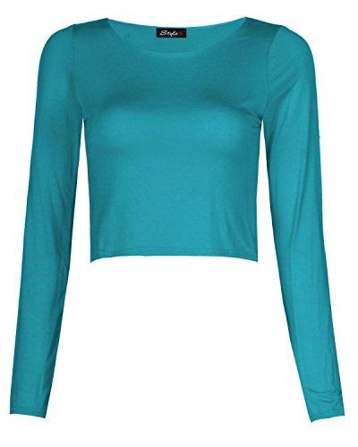 My Fashion Store - Camiseta de manga larga - para mujer turquesa