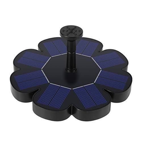 Ankway Bomba de Fuente Solar 1.6W, baño para pájaros, Bomba de riego, Bomba de Agua Ajustable con Filtro para baño de...