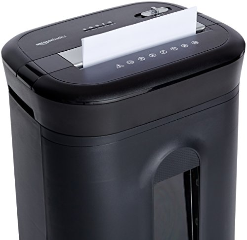 AmazonBasics 15-Sheet Cross-Cut Paper, CD Credit Card Office Shredder