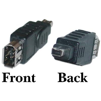 SkuBros Firewire Adapter, IEEE-1394a , 6 Pin Female / 4 Pin Male - Hi-Speed Clear male bilingual mac DV iLink adapter