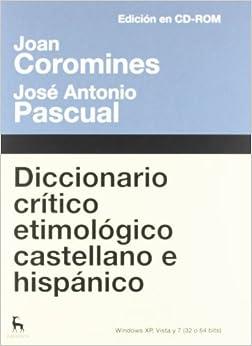 Diccionario Crítico Etimológico: Edición Electrónica PDF Descargar