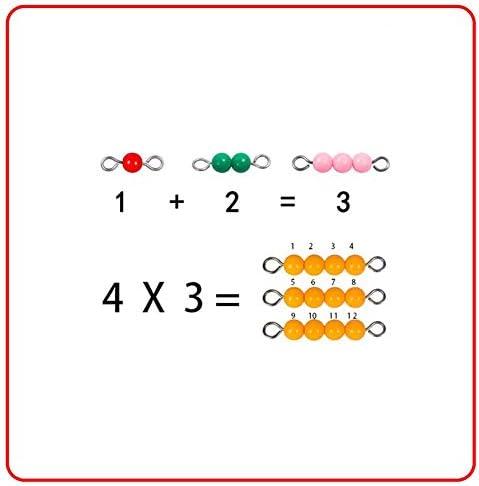 Kinderen 1-9 Leren Abacus Tellen, Math Manipulatieven Nummers Kleur Kralen Educatief Speelgoed, Kerstcadeau