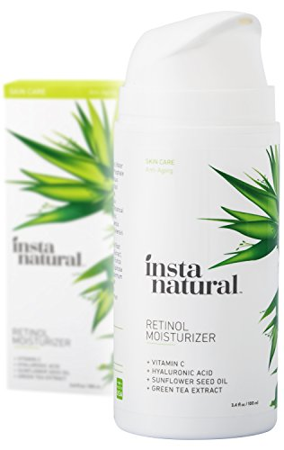 Price comparison product image InstaNatural Retinol Moisturizer Anti Aging Cream - Anti Wrinkle Lotion For Your Face - Helps Reduce Appearance of Wrinkles, Crows Feet, Circles & Fine Lines - With Vitamin C Hyaluronic Acid - 3.4 OZ