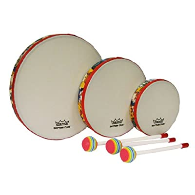 Remo RH3100-00 3-Piece Drum Set Multi-colored Rhythm Club Hand Drum Set, 6/8/10-Inch Diameters: Musical Instruments