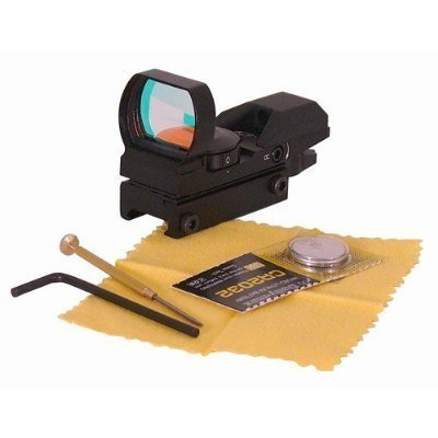Ultimate Arms Gear Tactical 4 Reticle Red Dot Open Reflex Sight with Weaver-Picatinny Rail Mount, Outdoor Stuffs