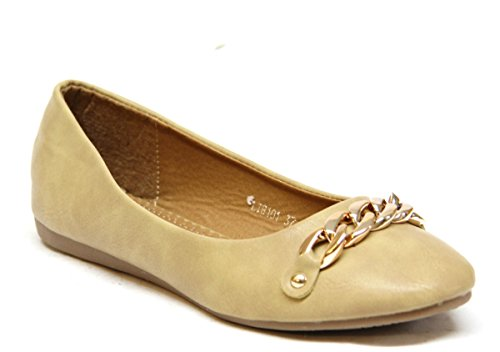 Slip Khaki Shoes On Womens Chain Flat zWO60HPq