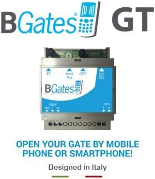 BGates GT - Designed in Italy 100% - Abre portón eléctrico, gsm Mediante Llamada telefónica Gratuita o aplicación Business Android iOS 230 V 50/60 Hz