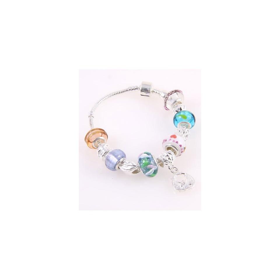 Fashion Jewelry Desinger Murano Glass Bead Bracelet with Pattern Multi