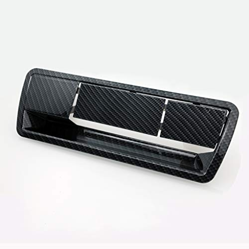 EAG Tailgate Handle Cover Black Carbon Fiber Look ABS without Camera Hole Fit for 04-15 Nissan Armada
