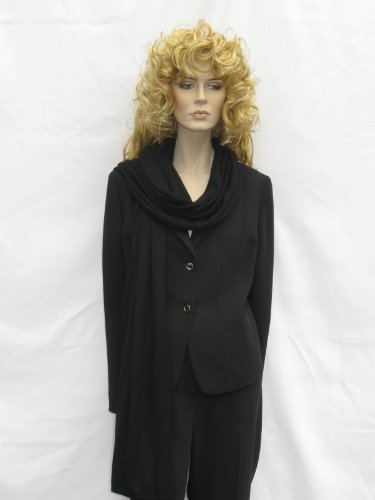 Cashmere Pashmina Group: Cashmere Scarf Shawl Stole Wrap (Sweater Knit Cashmere Shawl) Black by Cashmere Pashmina Group (Image #5)