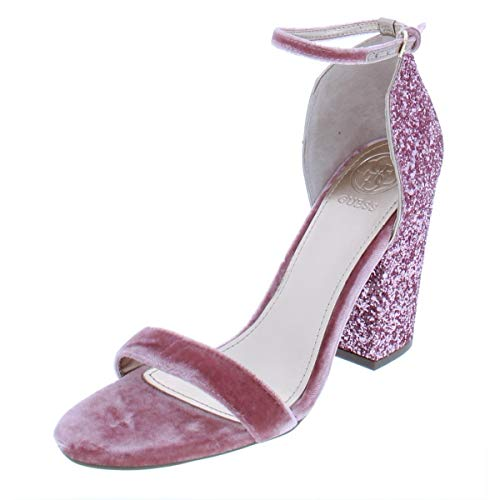 Guess Ankle Strap Sandals - Guess Womens Bambam Open Toe Special Occasion Ankle Strap, Pink, Size 10.0