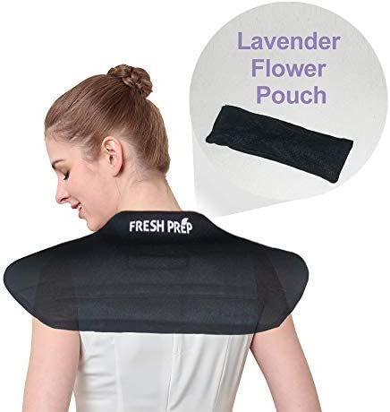 Stiffness Remedy Neck Wrap Microwaveable Aromatherapy Healing Neck and Shoulder Heat Wrap -Herbs and Natural Clay Beads with Lavender for Hot//Cold Deep Massage for Relax Grey Soothing Stress