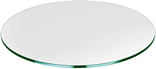 Bassett Glass 30 Round Tempered Glass Table Top – 1 2 Thick – Flat Polished Edge