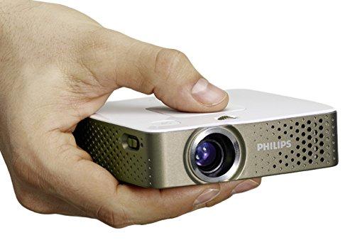 46 opinioni per Philips PPX 3414 PicoPix Proiettore Tascabile, 140 Lumen, Grigio