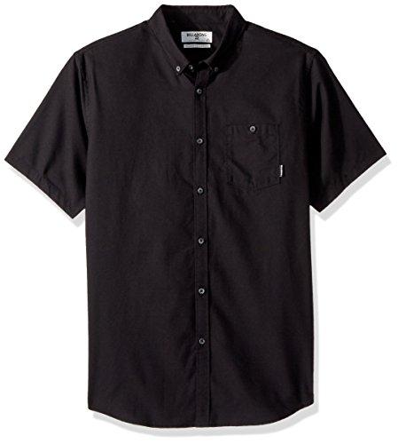 Billabong Men's All Day Oxford Short Sleeve Shirt Black Large