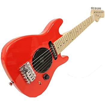 child 39 s toy 30 electric guitar w built in amp includes case acc kit red. Black Bedroom Furniture Sets. Home Design Ideas