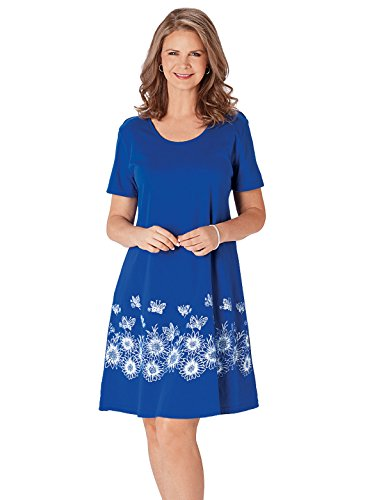 4X Dress Royal Printed Size Butterfly Gifts Wright Carol 4X Extra Size Extra Color Large Large Royal wEqvST41