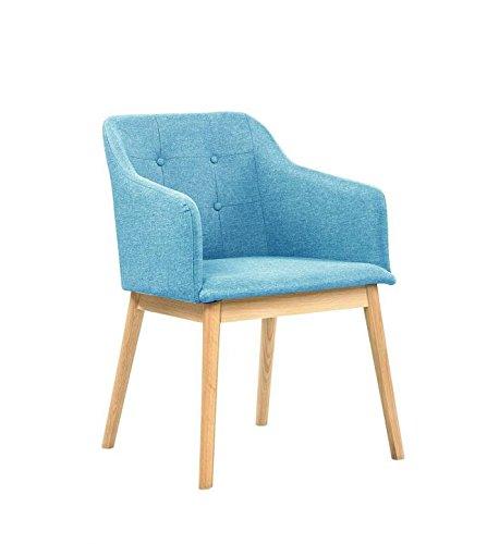 Salesfever Armlehnstuhl Ando Turkis Blau Esszimmer Stuhl Petrol Mit Stoffbezug Modern Gepolstert Massive Holzfusse Eiche Wohnzimmer Stuhl Sessel