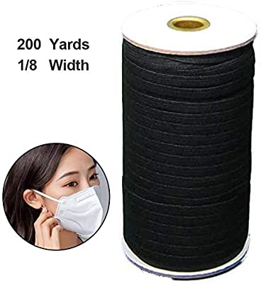1 8 Inch 200 Yards Elastic Bands For Sewing Black Elastic Cord
