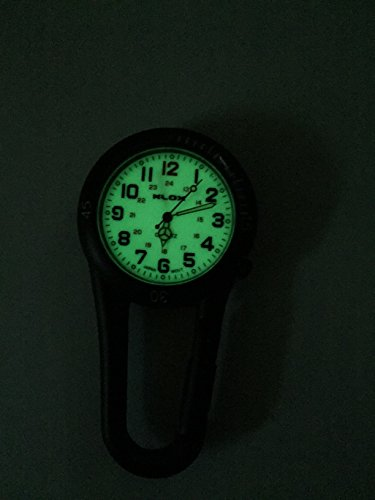 Glow in the Dark Unisex Belt Fob Watch Black Tone