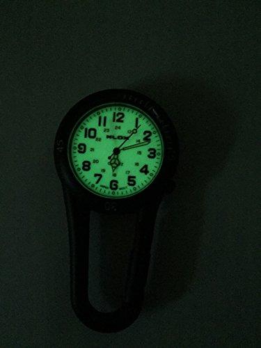 Glow in the Dark Unisex Belt Fob Watch Black Tone