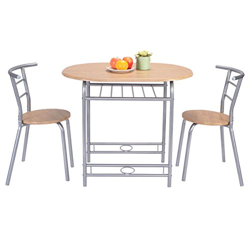 Table Dining Chairs set of 3 Pieces Table and 2 Chairs Breakfast Dining Kitchen Room Furniture New